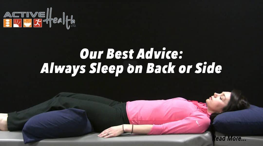 Active Daily Living Advice – (Sleep on Back or Side)