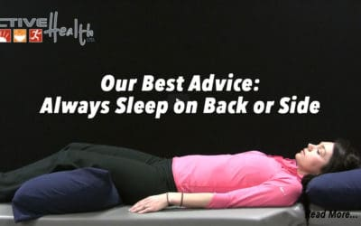 Active Daily Living Advice – (Sleep on Back or Side)