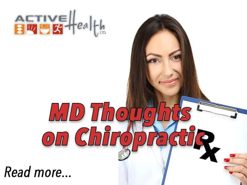 MD Thoughts on Chiropractic