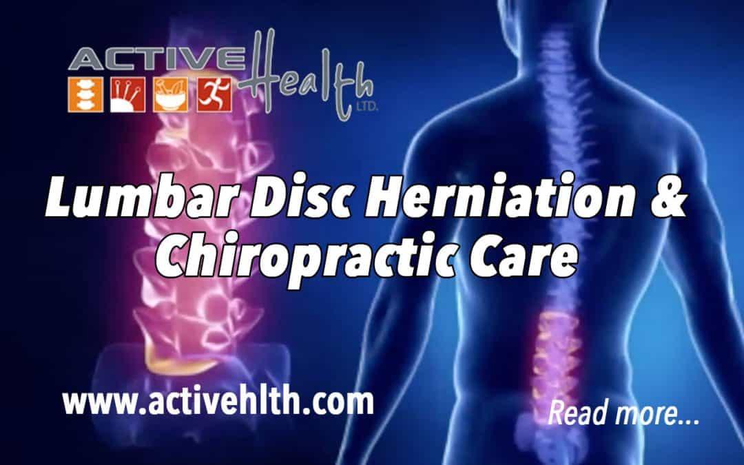 Lumbar Disc Herniation and Chiropractic