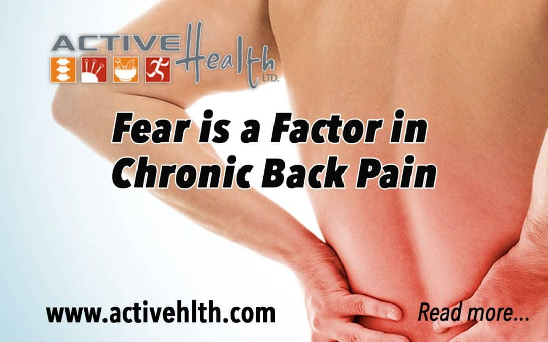 Chronic back pain can be scary… ?