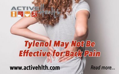 Tylenol May Not Be Effective for Lower Back Pain