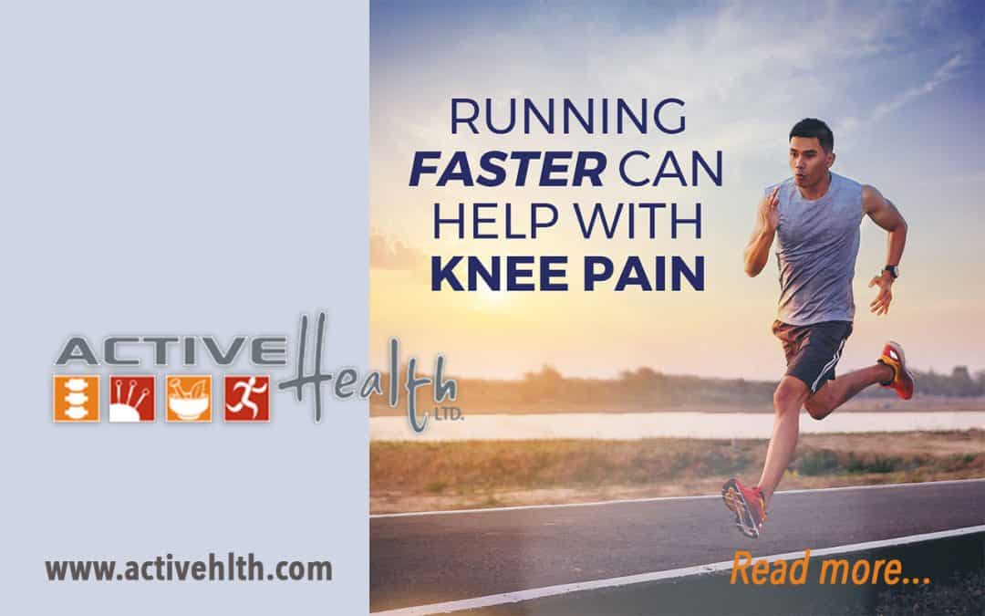 Running Faster Can Help with Knee Pain…🏃