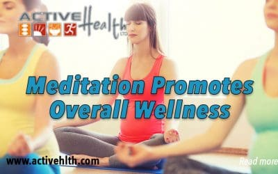 Meditation promotes physical relaxation and calmness