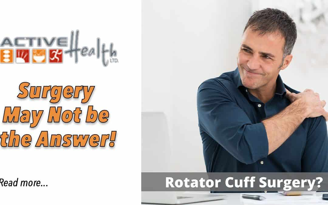 Thinking About Rotator Cuff Surgery?