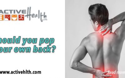 Stop Popping Your Own Back! Don't self-adjust a sore back