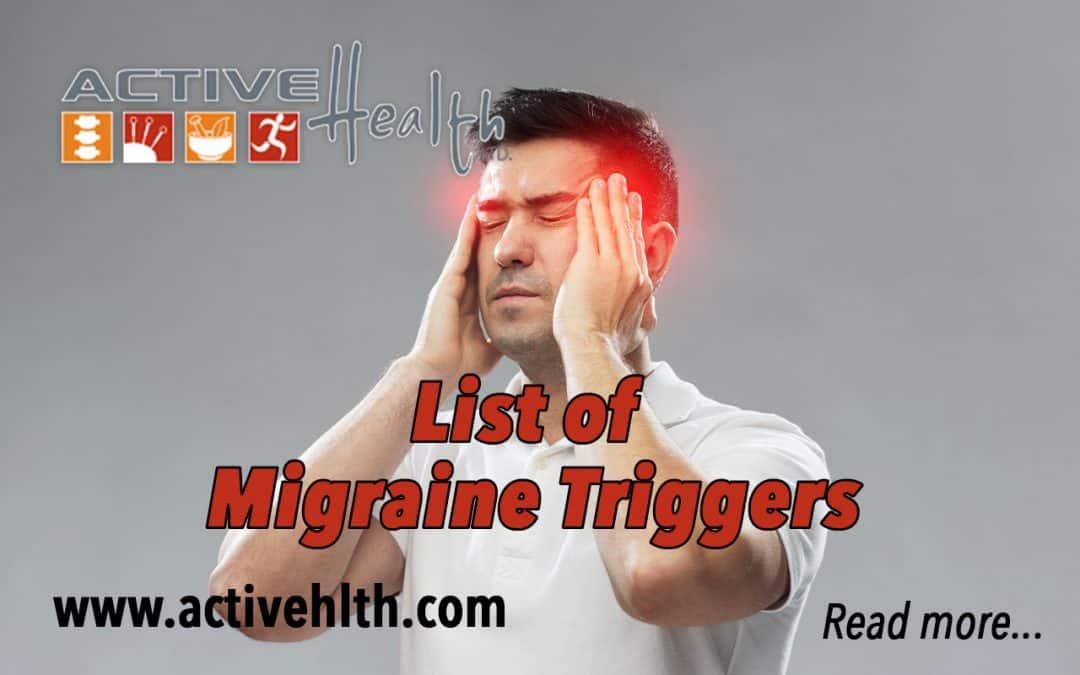 Migraine Triggers… 😓