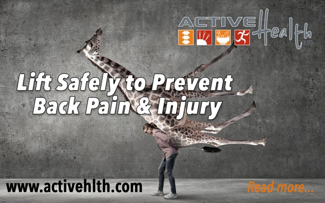 Back Pain With Bending & Lifting?