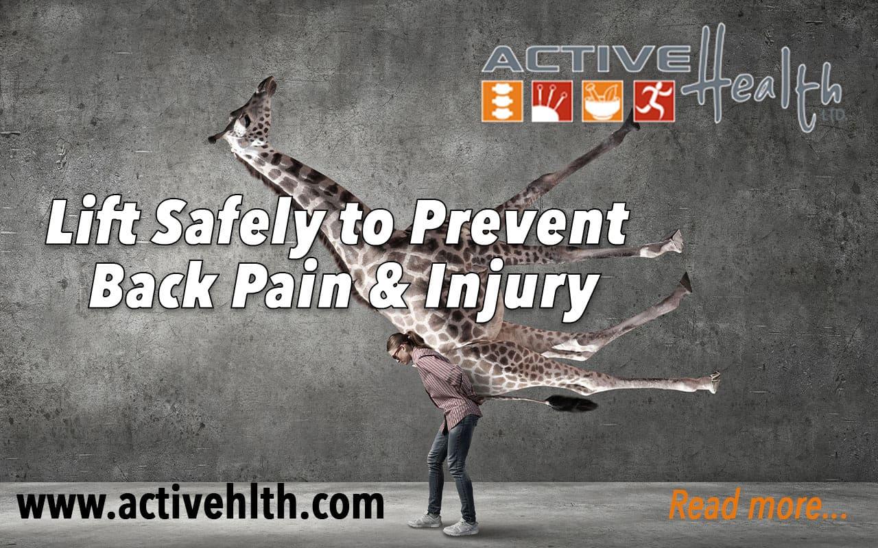 safe lifting back pain