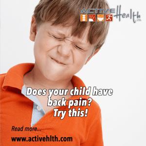 child back pain