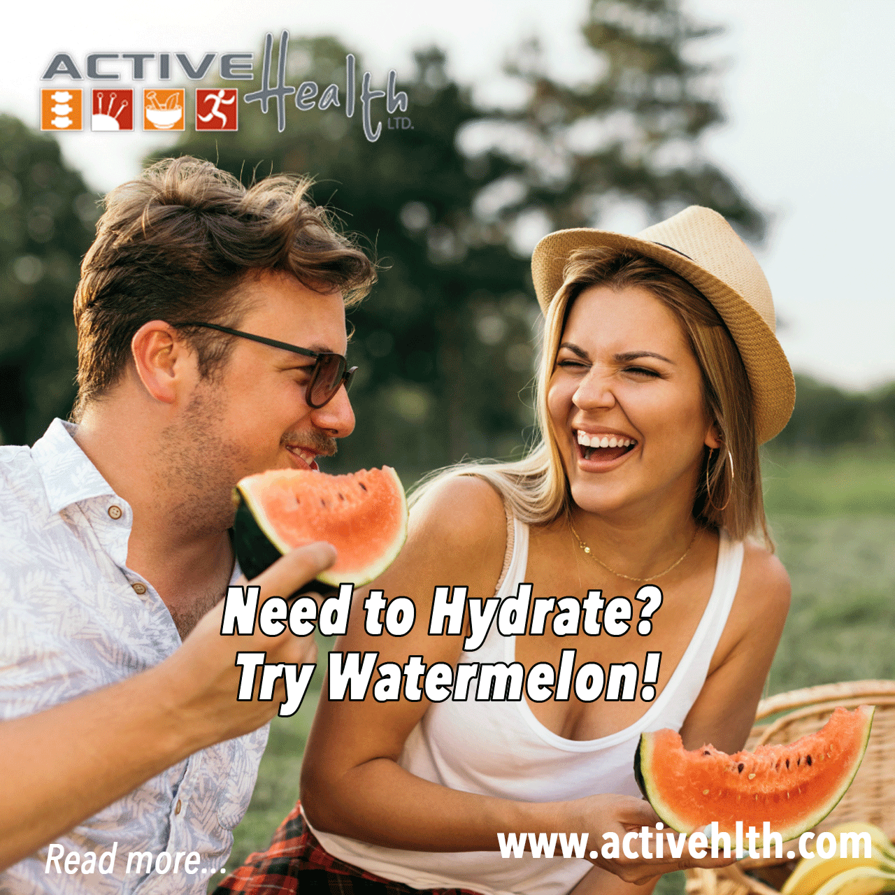 hydrate with watermelon