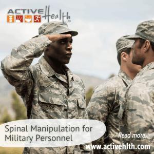 spinal manipulaiton for military